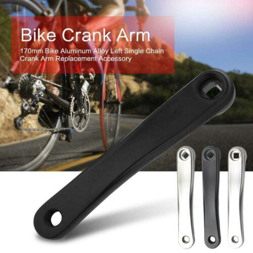 Aluminum Left Crank Arm Rhombus//Square Hole For MTB Mountain Bike Bicycle 170mm