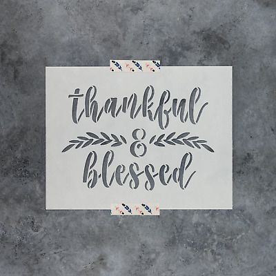 Durable /& Reusable Mylar Stencils Blessed Stencil