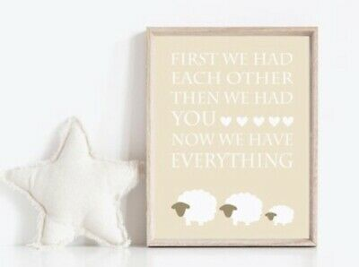Gender Neutral Sheep Nursery Prints Family Decor Lamb Art Ebay