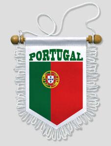 FANION-VOITURE-PORTUGAL-FOOTBALL-13-X-15-CM-ECUSSON