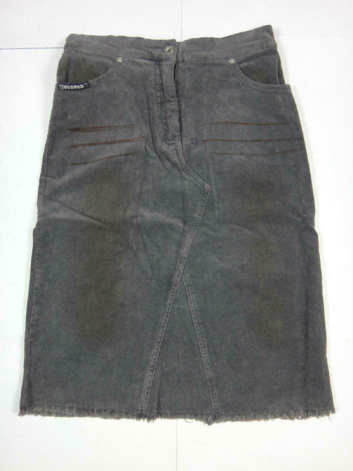 27001 Womens Skirt Fabric Essenza Size 26 Dark Grey; stretch