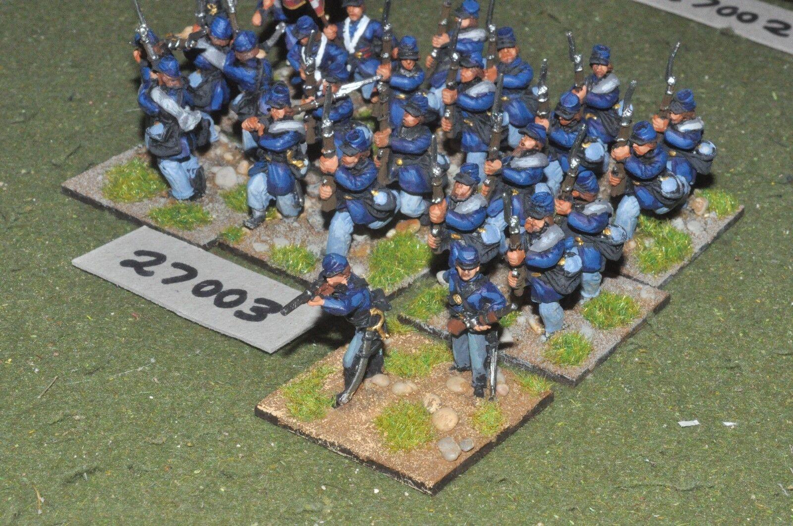 25mm ACW   union - regiment 26 figures - inf (27003)