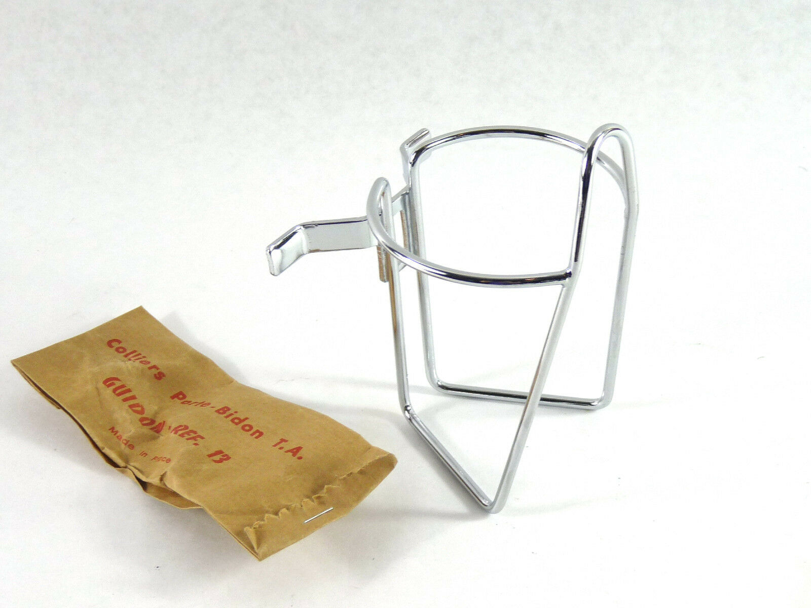 T.A. Handlebar mount water bottle cage w  clamps REF  213 TA Vintage Bicycle NOS