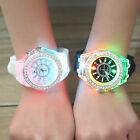 Fashion Women's LED Backlight Bling Crystal Quartz Wrist Watch Sport Waterproof