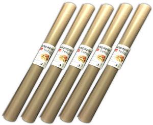 5x-Dauerbackfolie-zuschneidbar-Backpapier-33x40cm-Backfolie-Dauerbackpapier