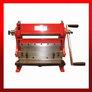 WNS 3 in 1 Combination Machine 300mm - Bending Rolls, Guillotine & Folder 0.8mm