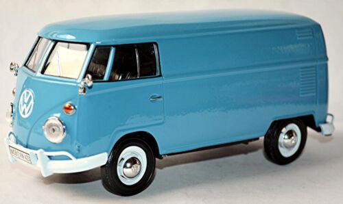 VW volkswagen t1 Type 2 Fourgon 1950-67 Delivery Van Bleu Blue 1:24