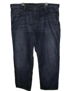 Tommy-Hilfiger-Whiskered-Blue-Jeans-Mens-Size-42-30-Dark-Wash-Denim-Straight