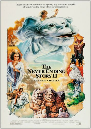The Never Ending Story 2 Classic Large Movie Poster Art Print Maxi A1 A2 A3 A4