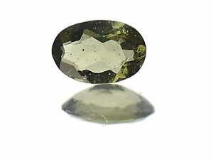 0.30cts oval 6x4mm STANDARD CUT moldavite faceted cutted gem BRUS1372