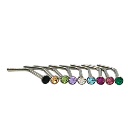 10x strass acier inox vis nez cerceau anneau goujon piercing vo 9H
