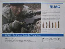 6/2010 PUB RUAG AMMOTEC THUN SWISS P AMMUNITION MUNITION SNIPER TIREUR ELITE AD