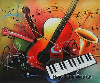 Handmade Modern Art Music Abstract Oil Painting Canvas Home Wall Room Decor 2202 Ebay