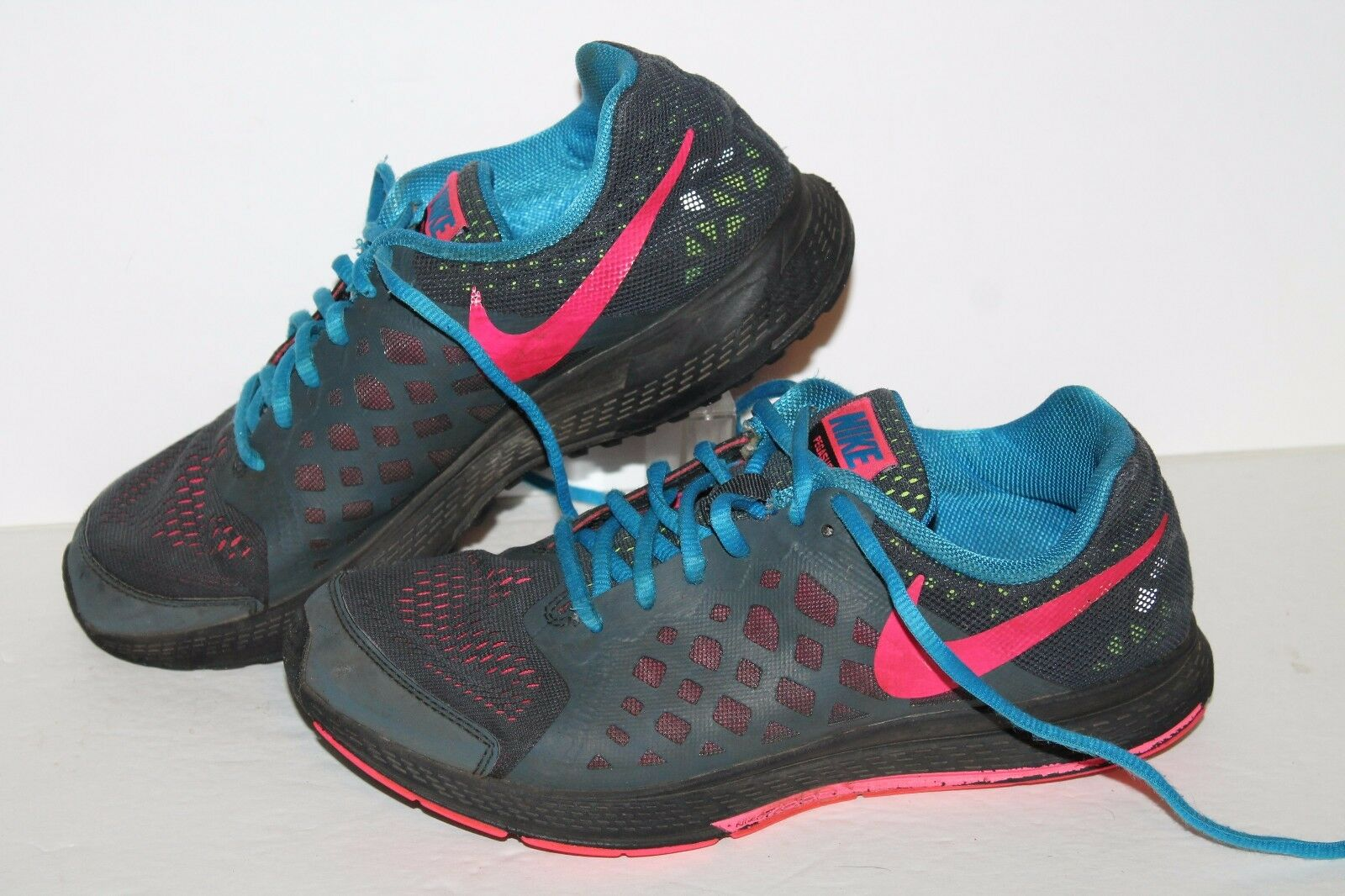 Nike Air Pegasus 31 Running Shoes, Grey/Pink/Blue, Womens US ~7 or 5.5 Youth Cheap and beautiful fashion