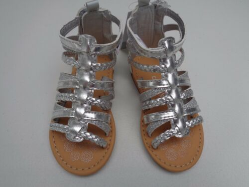 NEW Carter/'s Silver Metalic Shoes Girls Size 5 Sandals Dress Shoes zip $34.99