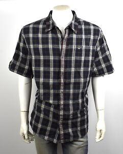 True-Religion-149-Men-039-s-Plaid-Button-Up-Shirt-Top-M10007TK1