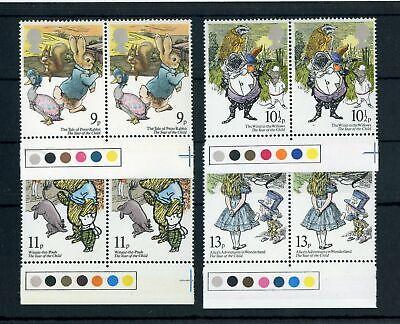 Briefmarken Vornehm Gb Nr.797-800 ** Jahr Des Kindes Randpaare Farbampeln !!! Großbritannien 141185