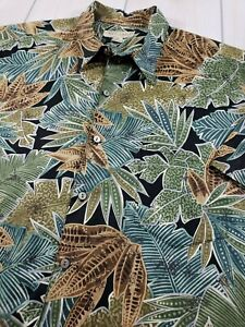 034-Mint-034-TORI-RICHARD-S-S-Cotton-Lawn-Hawaiian-Camp-Shirt-Foliage-USA-Men-039-s-XL-M70