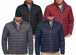 345a156a78e3 2018-19 Tommy Hilfiger Quilted Red Navy Black Down Packable Puffer ...