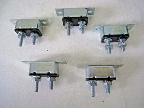 Lot of 5 COLE HERSEE Circuit Breaker w// Mounting Bracket Strap 12V 50A 50 Amps