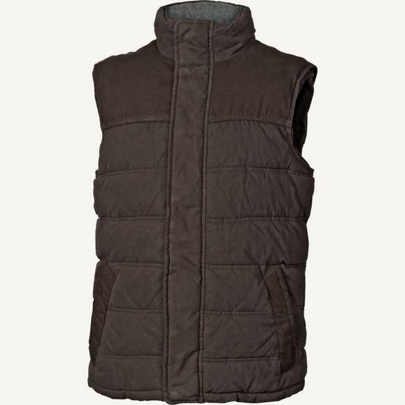 dd0094c3171bdb EX FAT FACE BROWN HAMILTON QUILTED PADDED ZIP THRU COLLARED GILET ...