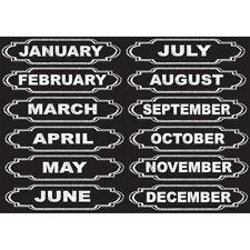Ashley Productions Die Cut Magnets Chalkboard Calendar Months 12 Pieces