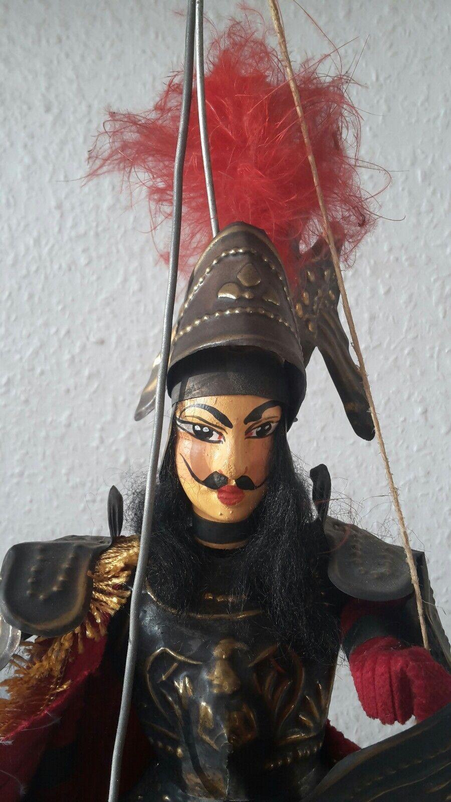 Marionette Ritter aus Sizilien Orlando Manufaktur Lanzafame Sebastiano rot 6