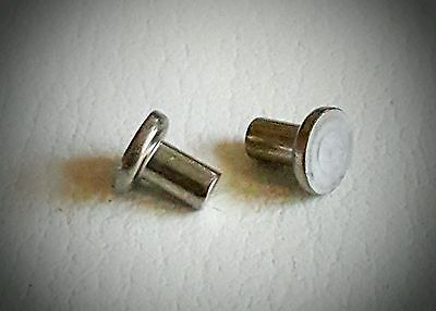3//16 X 1-1//4 Round Head 18-8 Solid Stainless Steel Rivets 100 pcs Box