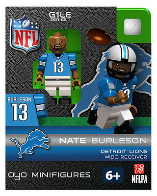 Nate Burleson OYO Detriot Lions NFL Football Figure LEGO Compatible NEW G1