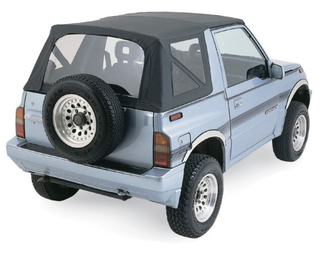 1988-.1994 Suzuki Sidekick Replacement Soft Top BLACK 98715 w clear rear windows