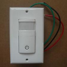 3 Way Occupancy Vacancy Wall Motion Sensor 120v 277vac Switch White No Neutral