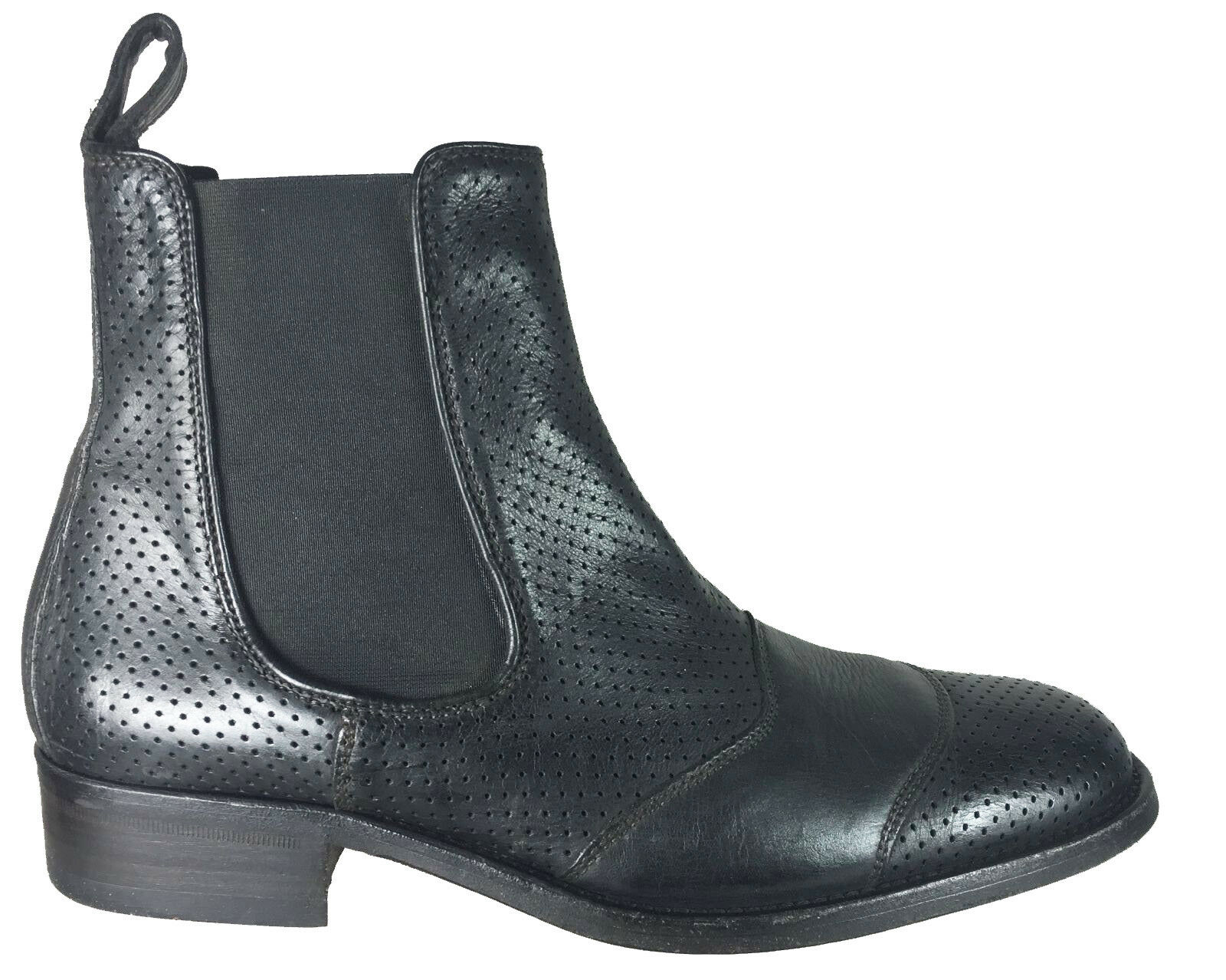 Belstaff Uomo Classic Tourmaster Ankle Perforated Leather Boots EU Size 42 Shoes