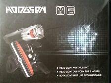 Hodgson Fahrrad Licht LED 6 Std. Frontleuchte Scheinwerfer +Rücklicht  schwarz
