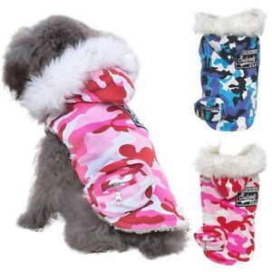 Pet-Dog-Camo-Hoodie-Thickened-Coat-Puppy-Winter-Warm-Padded-Jacket-Outwear-New