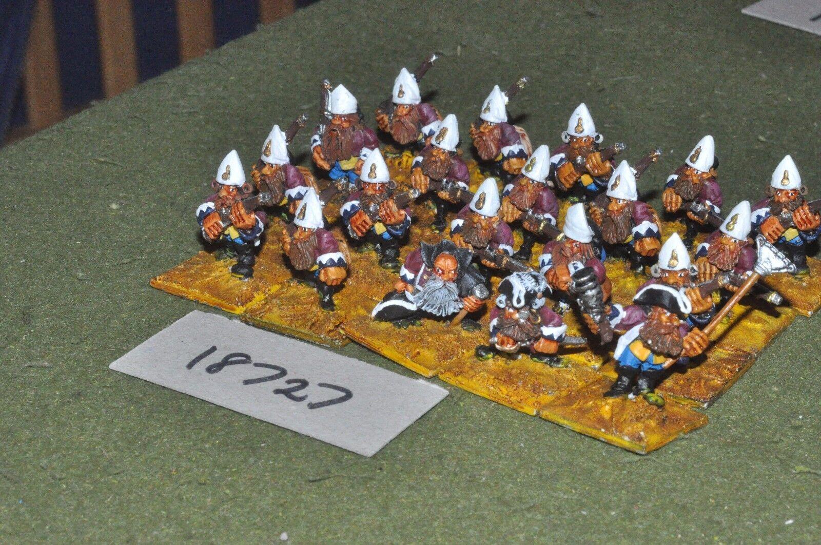 Flintloque fantasy dwarven Von redtes grenadiers infantry 20 {16} (18727)