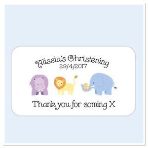 25 personalised christening thank you for coming to my party