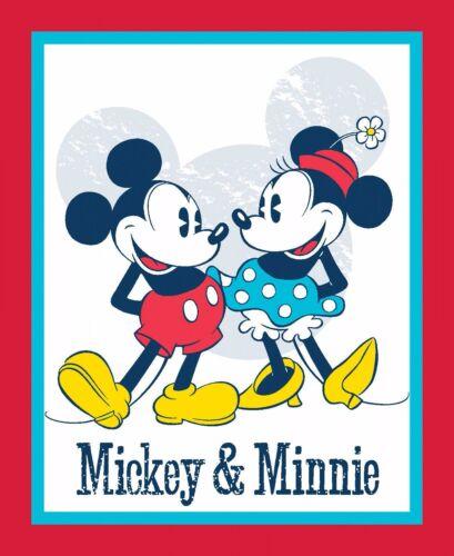 Tela De Disney-Mickey Y Minnie Panel-Vintage 100/% algodón