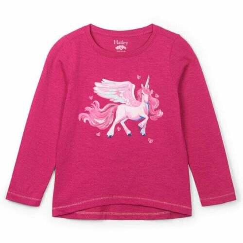 Hatley Kids Cotton Top Pink with Enchanted Unicorn Print
