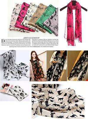 Fashion Lady Girl's Vintage Long Soft Chiffon Scarf Wrap Shawl Stole Scarves