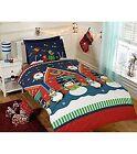 Santas Grotto Christmas Boys Girls Kids Single Duvet Quilt Cover Bedding Set