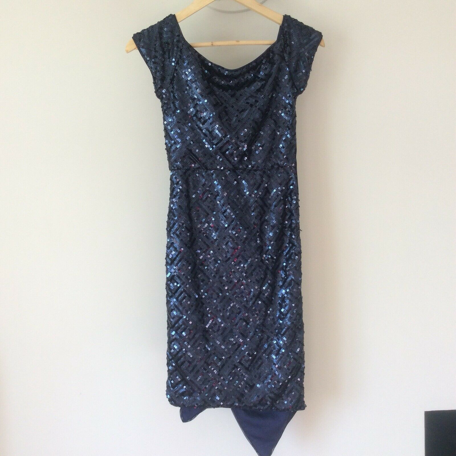 TFNC London Ladies Dress Size 8 Sequins bluee Party Occassion Prom