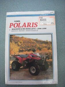 clymer 362 repair service manual polaris magnum 425 2x4 4x4 6x6 big rh ebay com 1996 Polaris 425 Magnum Specifications Used Polaris 425 Magnum Parts