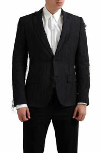Maison-Margiela-034-10-034-100-Silk-Black-One-Button-Men-039-s-Blazer-US-38-IT-48