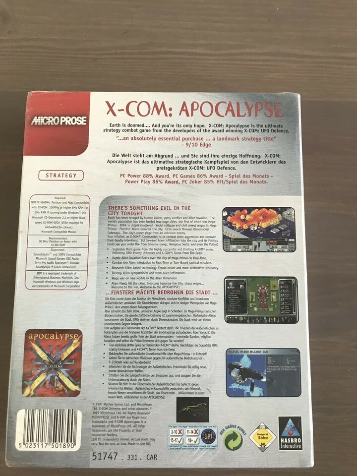 XCOM Apocalypse big box aldrig brugt, til pc, strategi