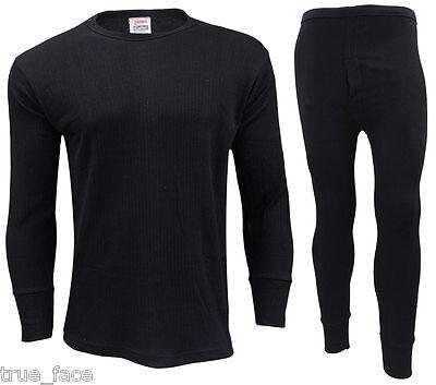 Men Thermal Long Johns Bottoms Trousers Long Sleeve T Shirt Top Vest Ski Wear