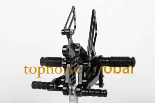 For Kawasaki ZX6R 2009-2015 CNC Foot pegs Rearsets Rear set Black Adjustable