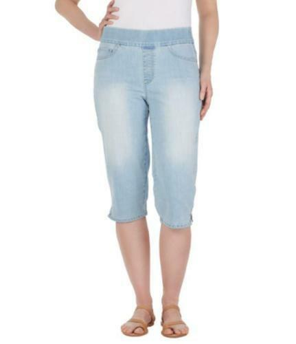 denim Pantaloni Vanderbilt in 8 Slimming Pull Gloria Stretch Capri Skimmer Avery 10 On Hqna6F