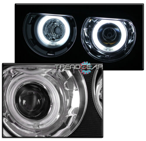 FOR 2008-2014 CHALLENGER CCFL HALO BLACK PROJECTOR HEADLIGHTS LAMP HID VERSION