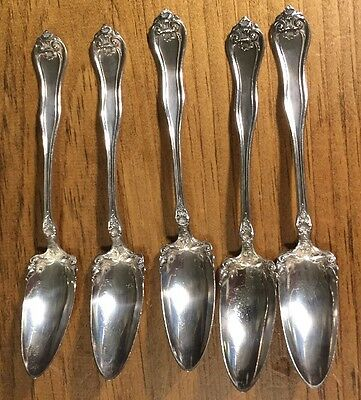 Five Matching 1881 Rogers A1 Pointed Ice Cream Spoons 1917 Leyland Pattern