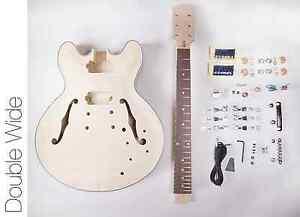 new diy electric guitar kit 335 style build your own guitar kit ebay. Black Bedroom Furniture Sets. Home Design Ideas